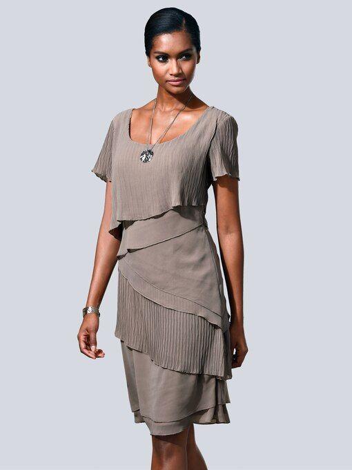 kleid in modischem lagenlook alba moda | albamoda.de in