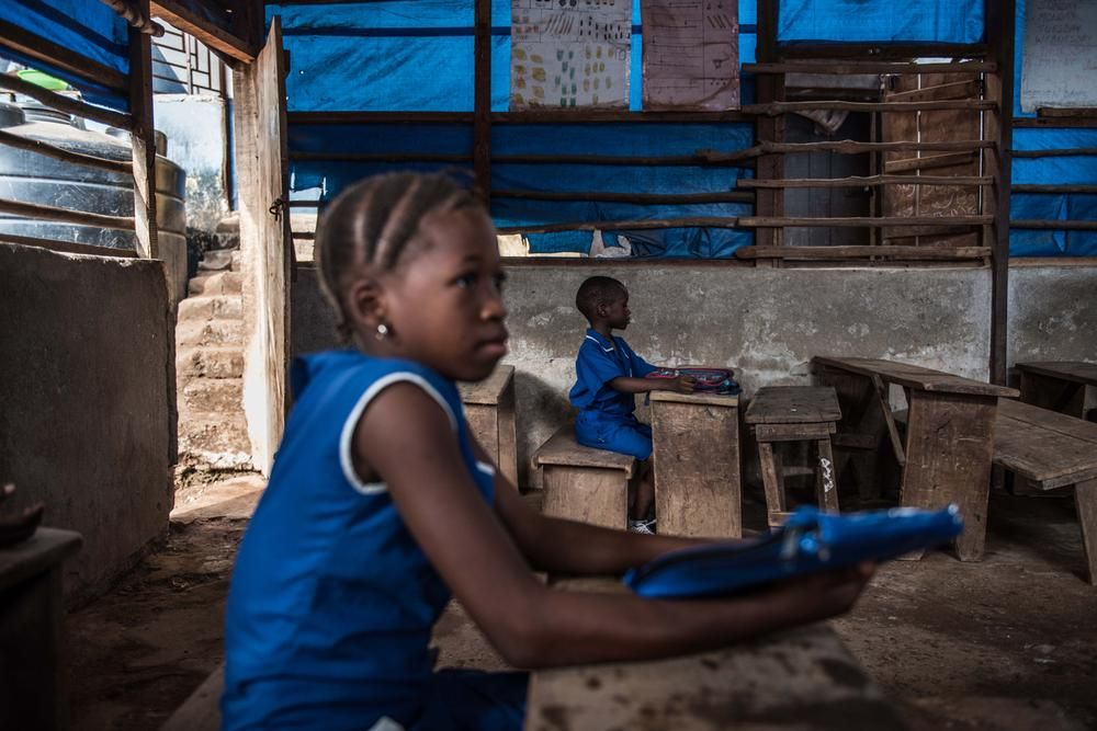 Back to school in Sierra Leone, but not quite back to normal yet. Tommy Trenchard/Al Jazeera