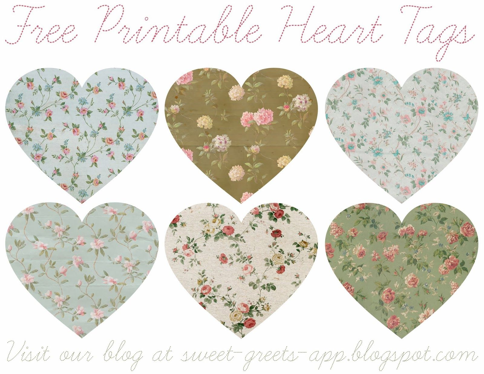 Free Printable Heart T Tags