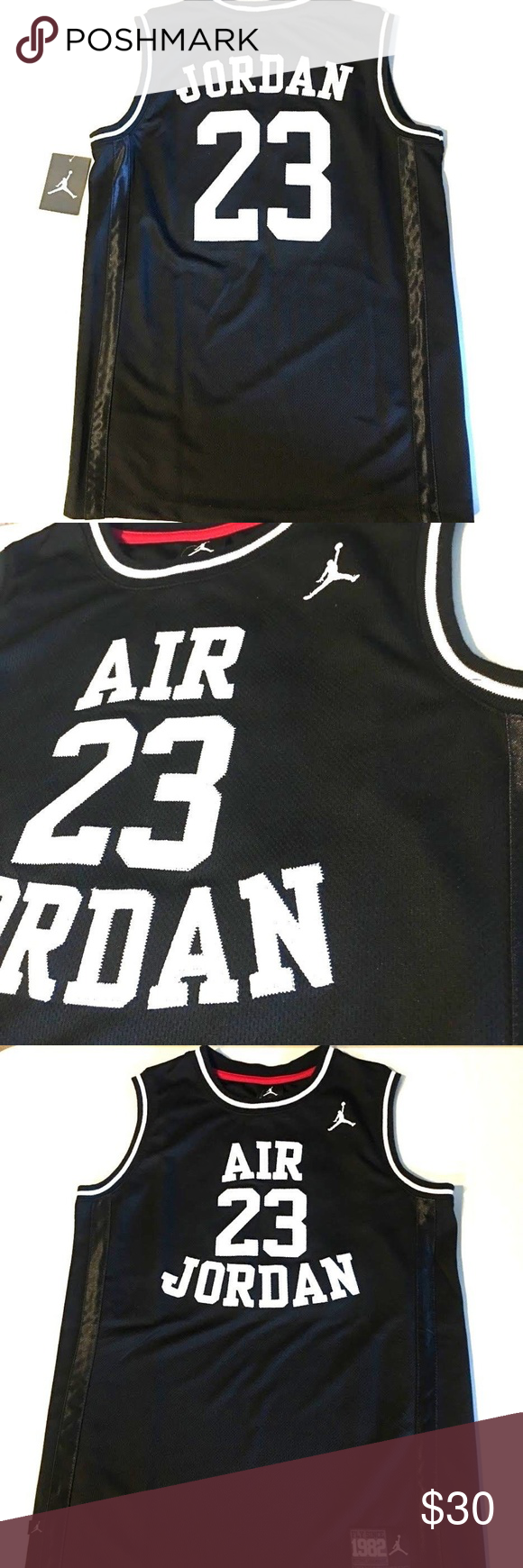 online store 9c085 9cb9a NIKE Michael Jordan Jumpman 23 Basketball Jersey NIKE ...