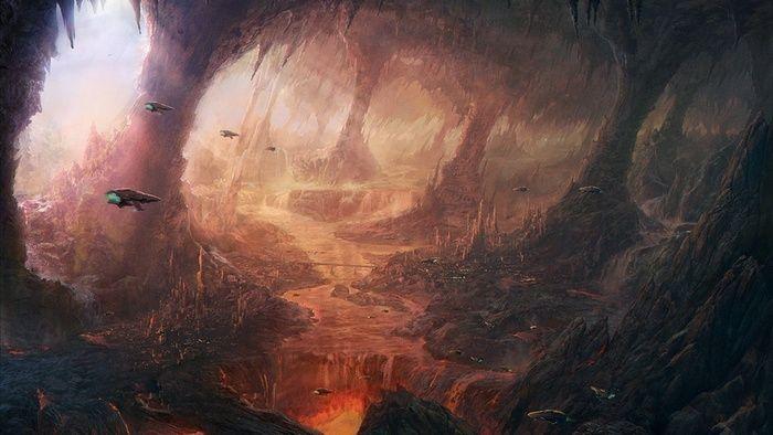artwork, science fiction, wallpaper Landscape concept