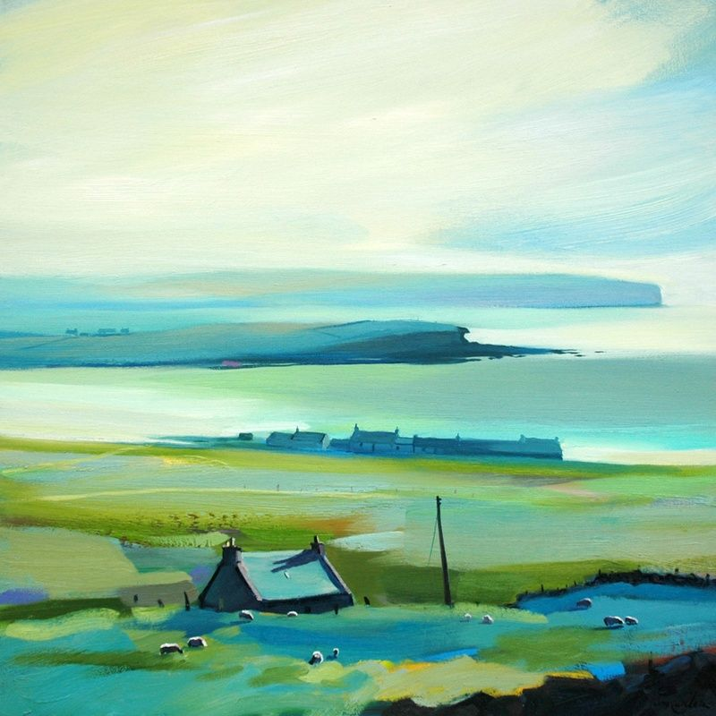 Pam Carter - In the Distant Haze - Pam Carter, oil on canvas, 60 x 60 cm, £3600. #11231