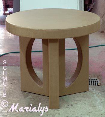 Table Basse En Carton Moveis De Papelao Mesa De Papel Artesanato De Madeira