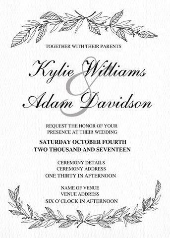 Wedding Invitation Suite Charming
