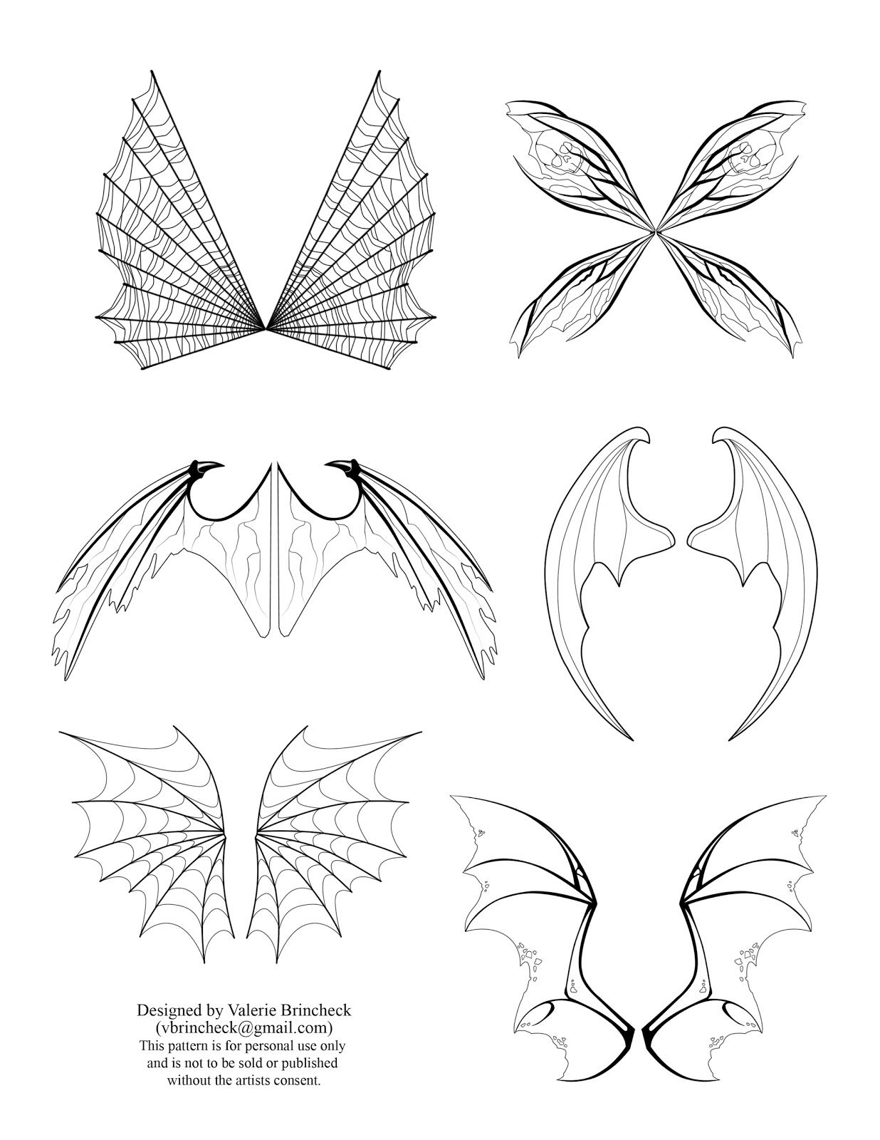 Fairy Wings Drawings | To download click on the picture to get a ...