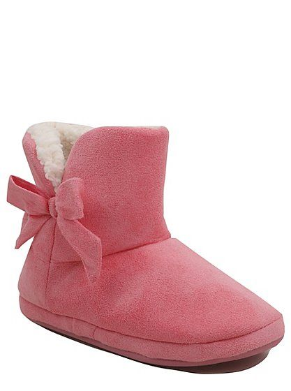 Bow Detail Slipper Boots, read reviews and buy online at George at ASDA.  Shop