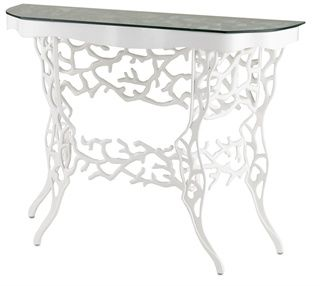 Corail Console Table, White