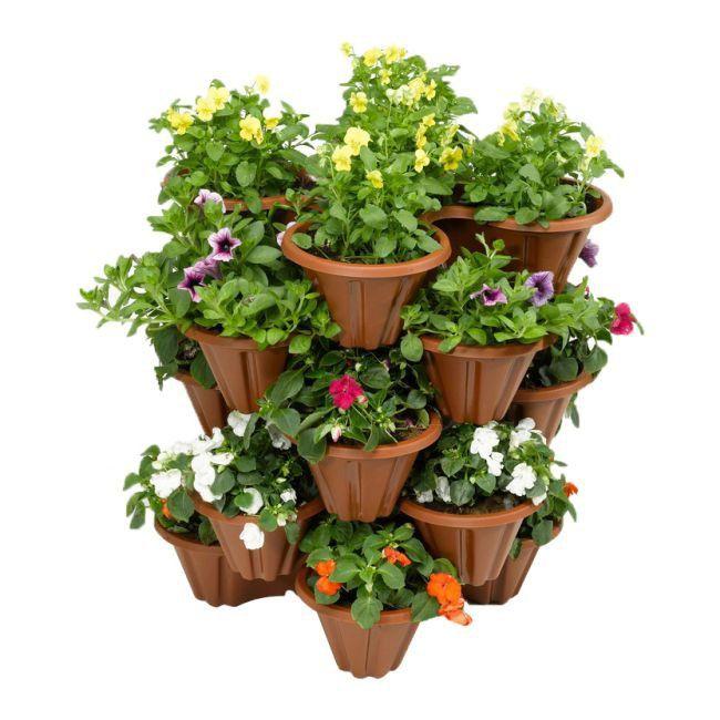 Skrzynka Balkonowa Quadru Brazowa Skrzynki Zewnetrzne Doniczki I Oslonki Uprawa I Ochrona Roslin Ogrod Plants Planters Planter Pots