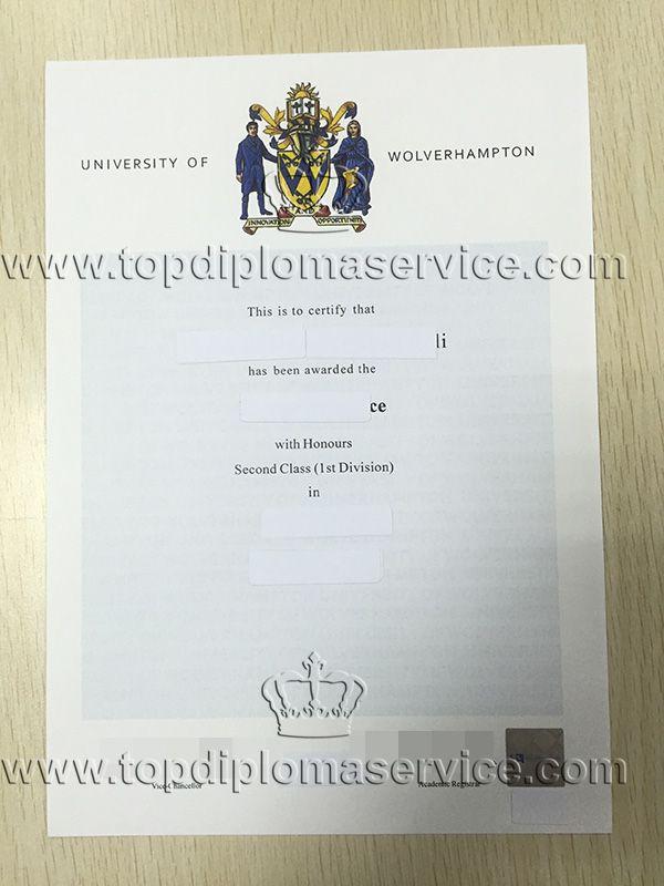 University of Wolverhampton degree, buy fake UK certificate   - degree certificate template