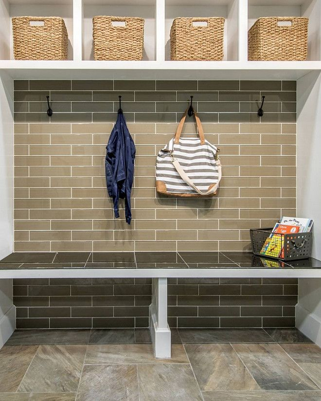 Mudroom Subway Tile Accent Wall Adding A Brings Durability To Your Tiled Is Also Easy Clean