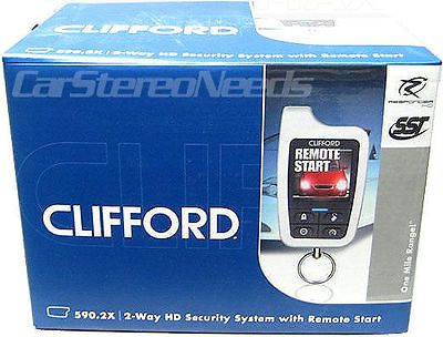 Car Alarms and Security Systems: New Clifford 590.2X 2-Way Color Hd Car Alarm Security System Remote Start Lcd -> BUY IT NOW ONLY: $249.9 on eBay!