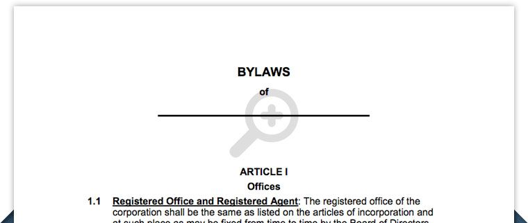 Free Corporation Bylaws Corporate Bylaws Template Business - Simple corporate bylaws template