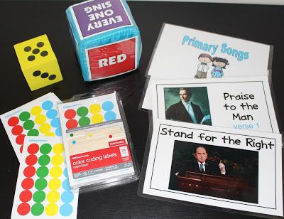 The Primary Pad: Sticker Dot Singers and Programmable Dice