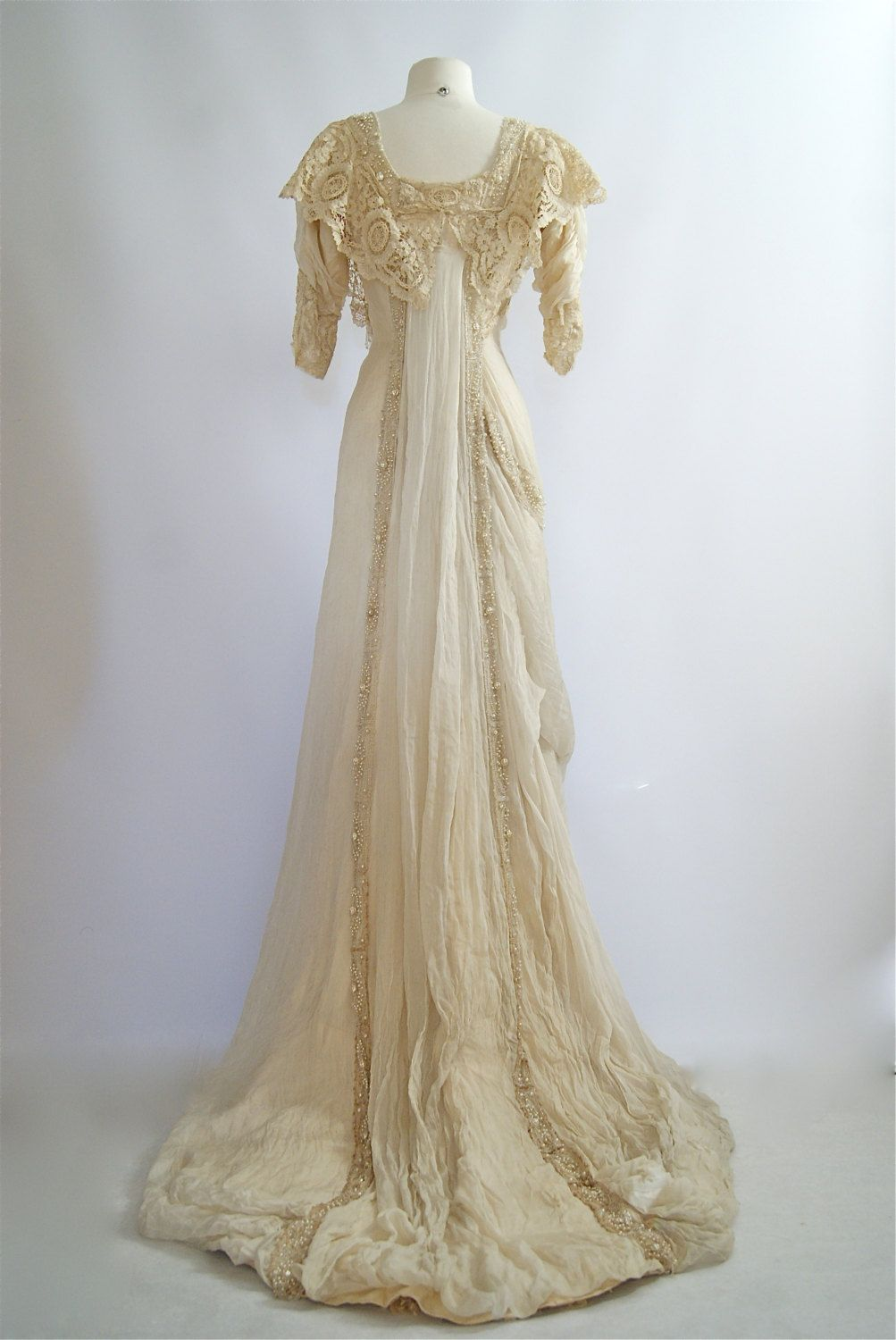 Exquisite 1900s Belle Epoque Wedding Gown by xtabayvintage | Robes ...