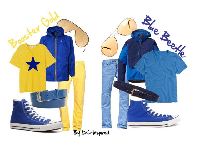 """""""Booster Gold and Blue Beetle"""" by dc-fashion ❤ liked on Polyvore featuring Crafted, Ray-Ban, Scotch & Soda, Patagonia, CO-OP Barneys New York, True Religion, K-Way, Converse, rag & bone and Quiksilver"""