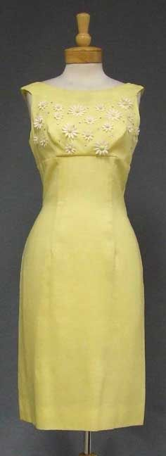 1960s yellow dress with matching capelet