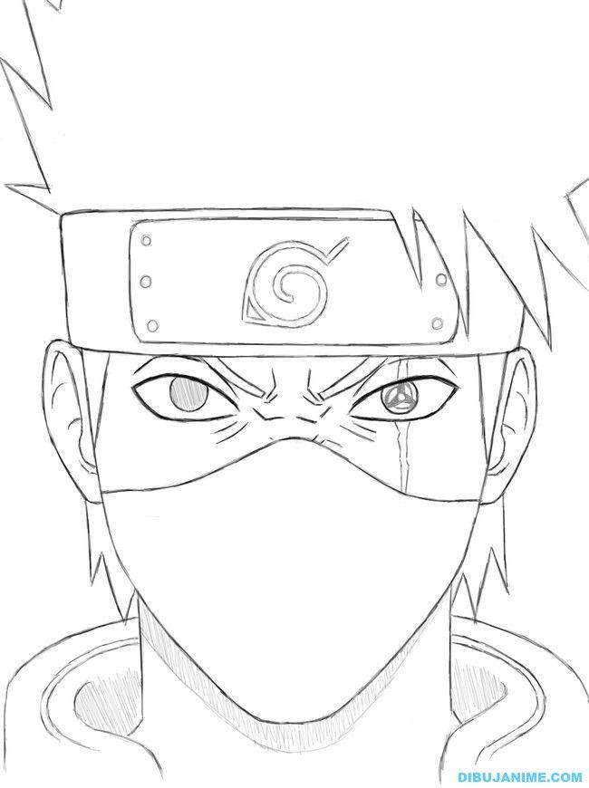 Naruto Kakashi Coloring Page Google Search Con Imagenes