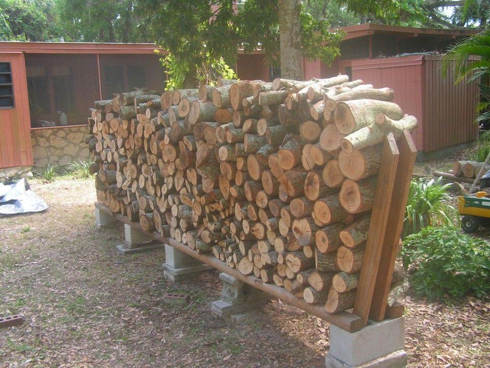 Furniture Cinder Block Base Easy Diy Outdoor Firewood Rack Storage Ideas
