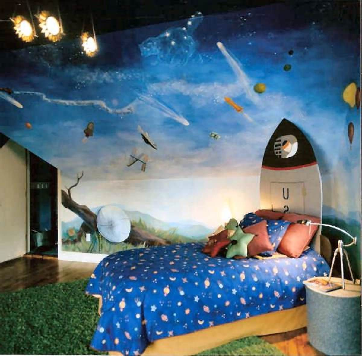 25 marvelous kids rooms ceiling designs ideas outer for Outer space bedroom design