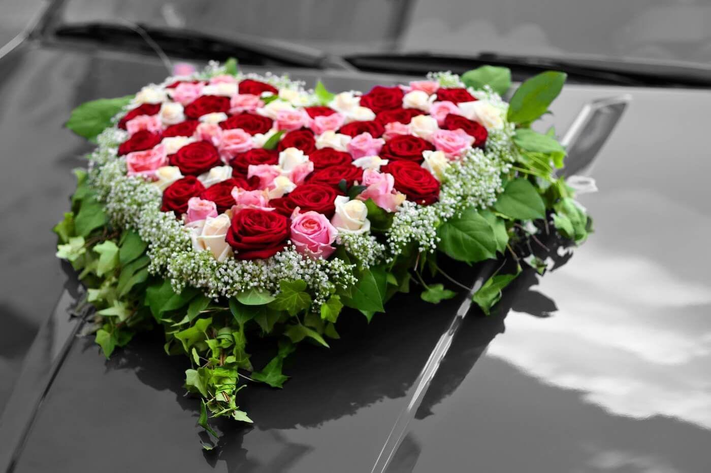Herz Auto Bildergalerie Hochzeit Pinterest Wedding Flowers