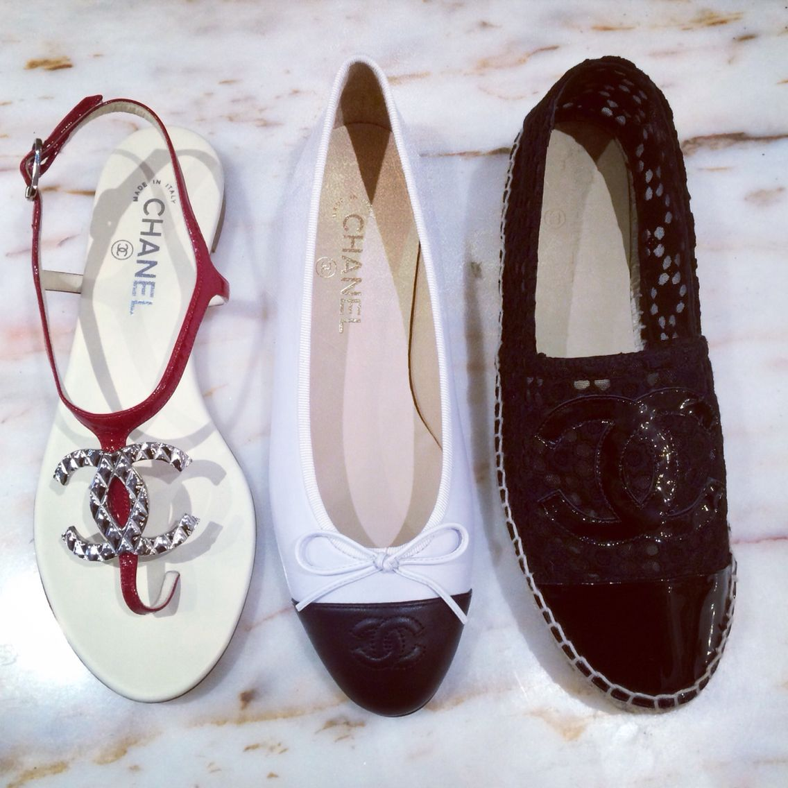 Best View In The House And More New Arrivals To Come Chanelofficial Ascnewarrivals Chanelballetflats Chanele Shoe Sale Chanel Sandals Chanel Espadrilles