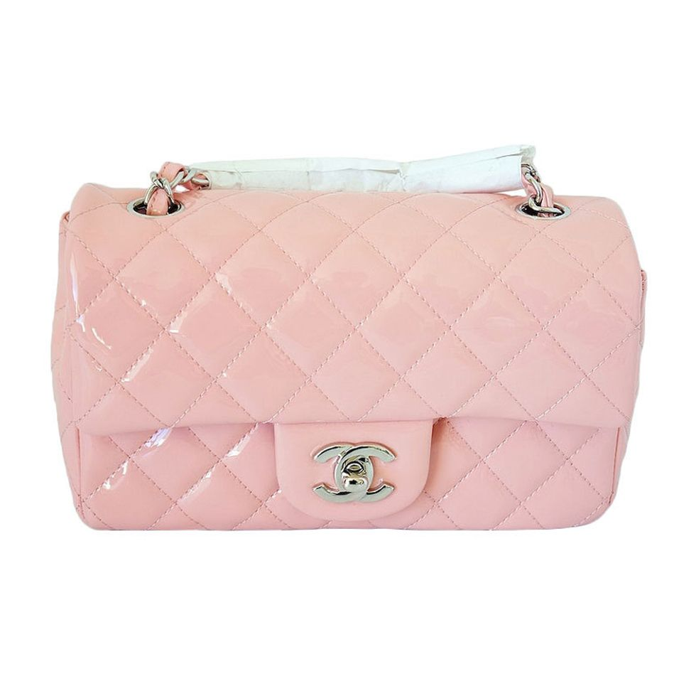 CHANEL flap bag MINI patent leather pink Cruise 2013 NEW | 1stdibs.com