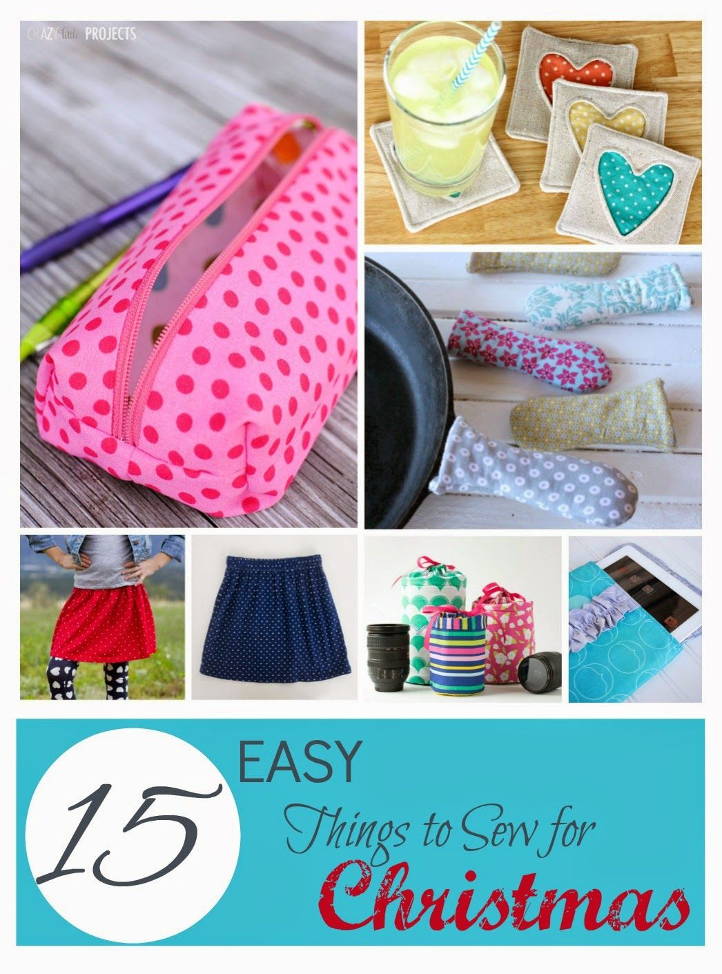 Southern Fabric 15 Easy Things To Sew For Christmas Presents Fabric Scraps Easy Sewing Projects Easy Sewing