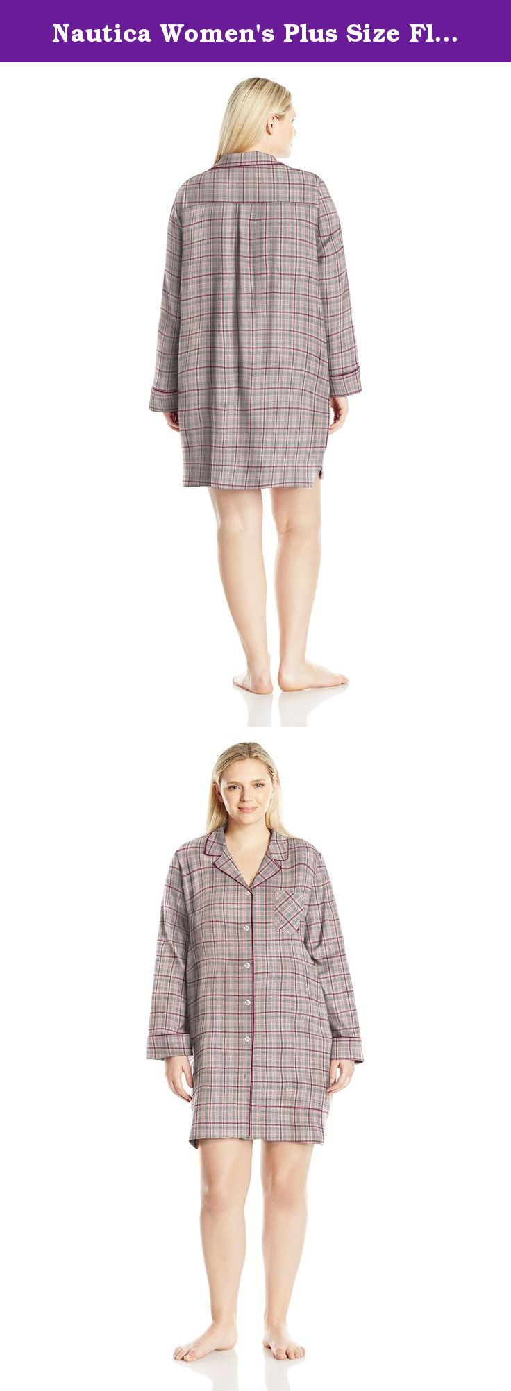 Womens Plus Size Flannel Nightshirts Anlis