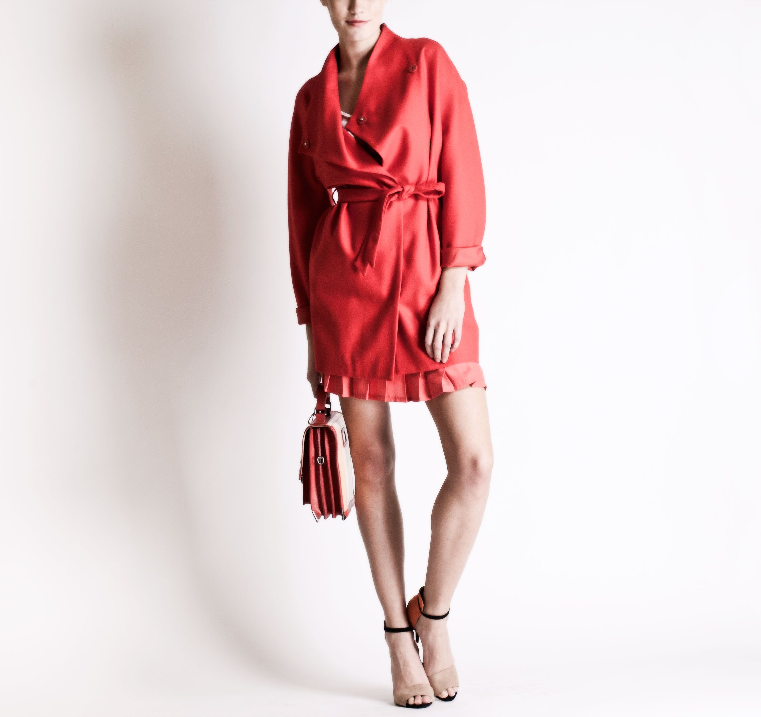 Christine Phung SS2013 Ara Red Coat #ModeWalk #luxury #fashion #ChristinePhung #coat