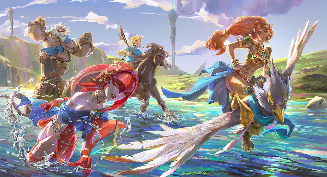 Water Tumblr Legend Of Zelda Breath Of The Wild Legend Of Zelda Breath