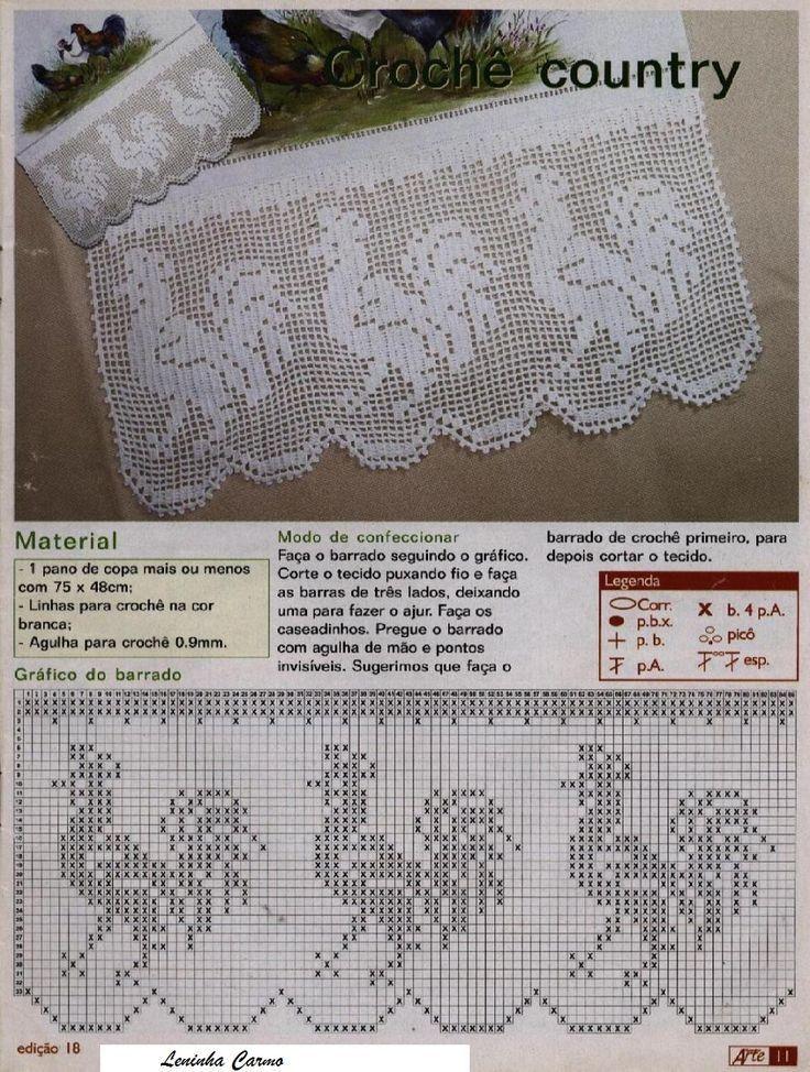 Landelijk Gordijntje Haken Crochet Curtains Cortinas Crochet
