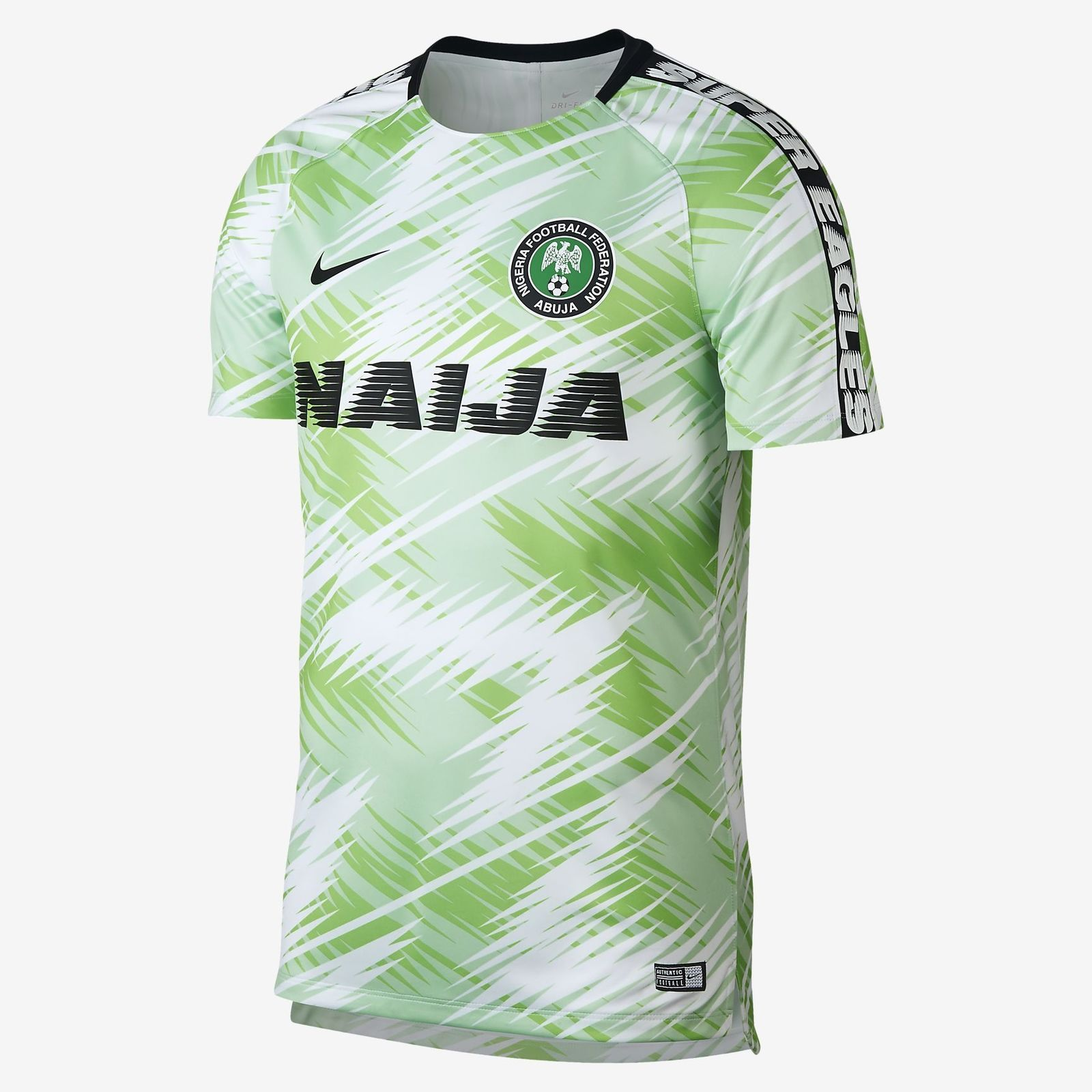 f40d3588bf7f6 2018 Nike Nigeria Dri-FIT Squad Men Top Soccer Jersey Small 893364-100 WORLD  CUP Discount Price 139.99 Free Shipping Buy it Now