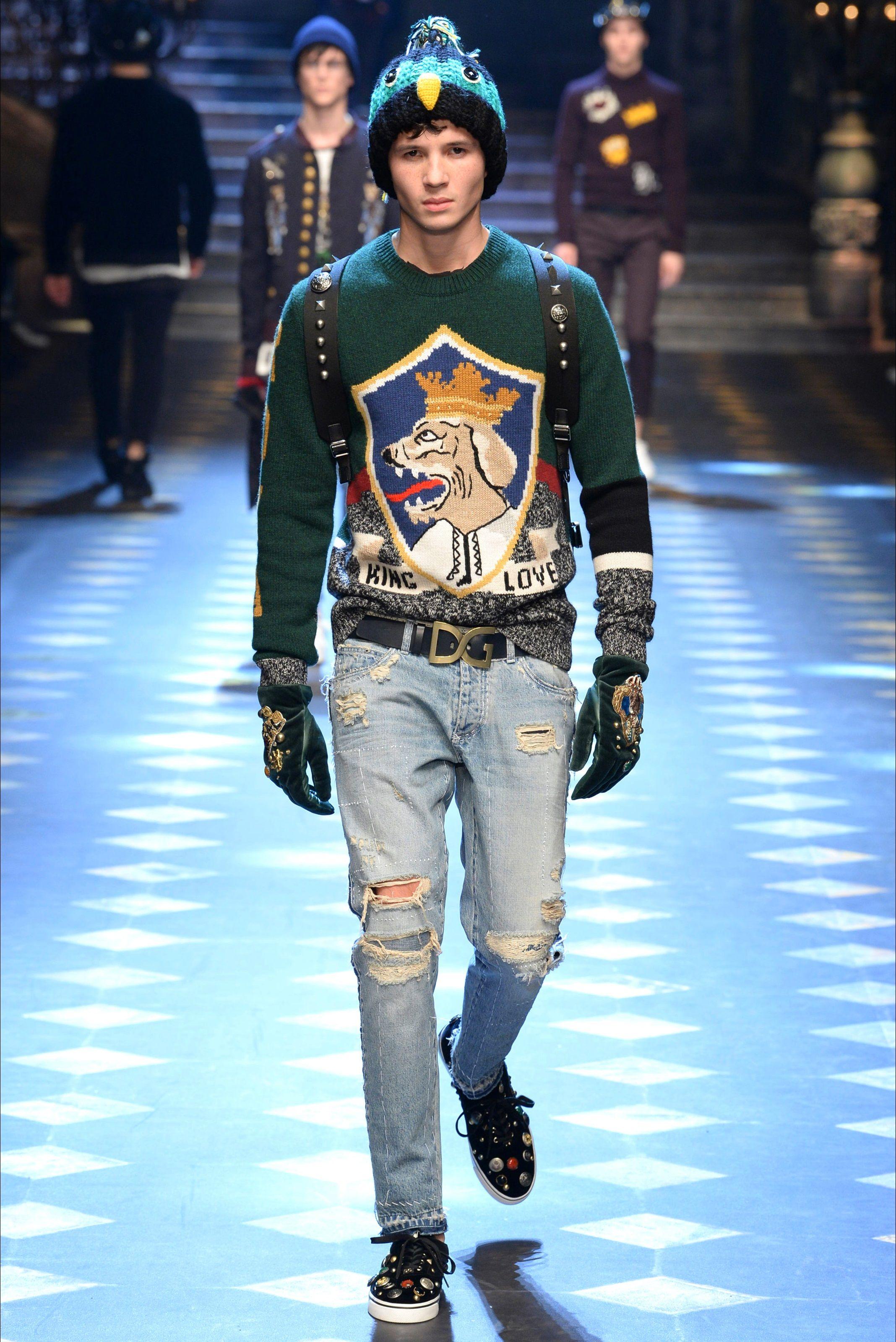 Sfilata Moda Uomo Dolce   Gabbana Milano - Autunno Inverno 2017-18 - Vogue 08305730323