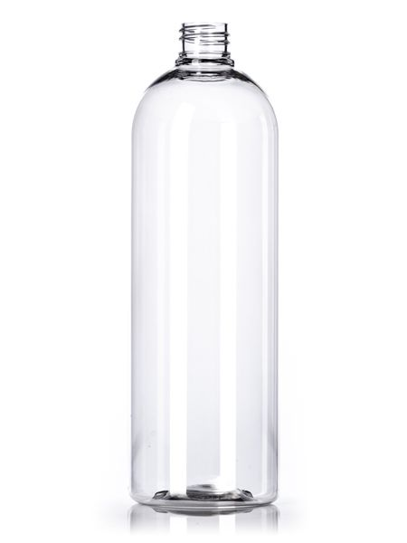 B113 1 Liter Clear Pet Bullet Round Bottle With 28 410 Neck Finish Cosmo Bullet Rounds Bottle Plastic Bottles Glass Water Bottle
