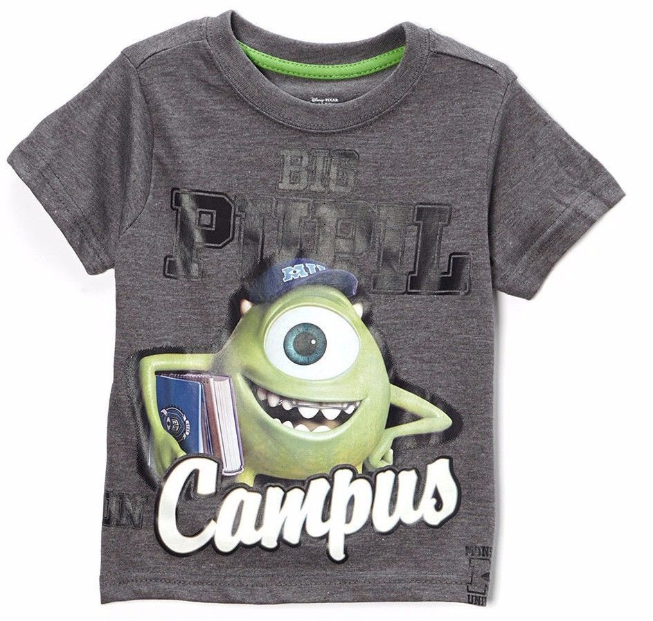Disney Licensed Characters Graphic Toddler Boy SS t Shirt 2t 3t 4t nwt Monster   #Disney #Everyday