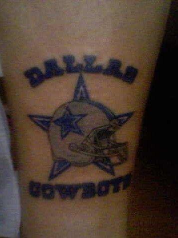 The dallas cowboy tattoo on my leg love the boys - Dallas cowboys tattoo ideas ...