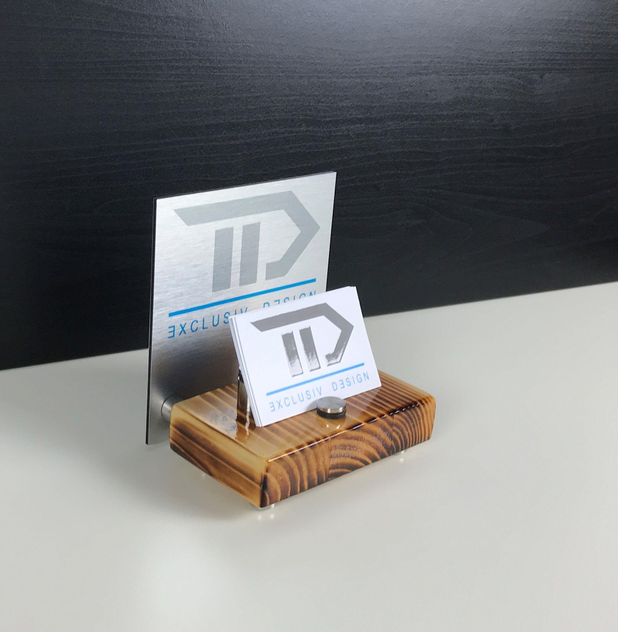 Aufsteller Für Visitenkarten Mit Digitaldruck Machen Sie