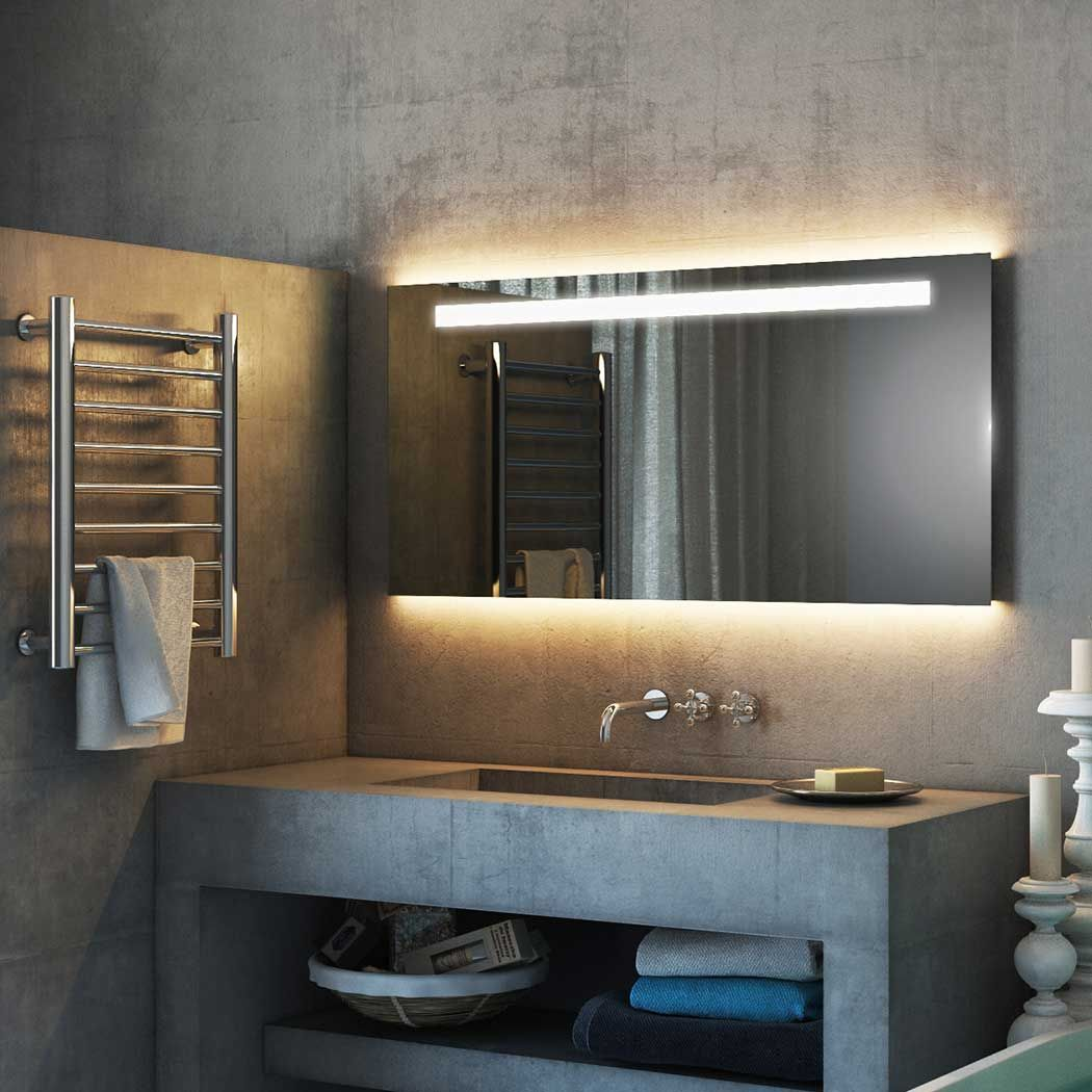 Light Mirrors Led Enlighten Halo Range Bathroom Mirror With Infra Red Sensor With Images Shower Mirror Bathroom Mirror Big Bathrooms