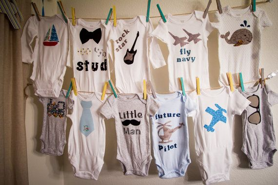 DIY Baby Shower Outfit Decorating ONEZIE PARTY by SarahSaysSew