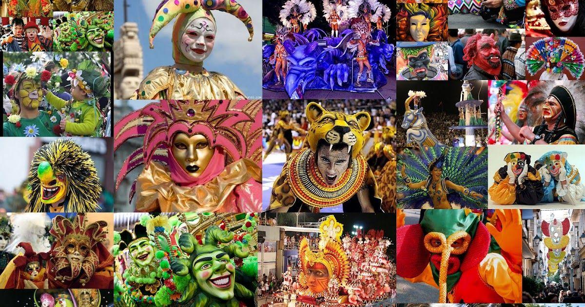 Carnavales Del Mundo Collage Buscar Con Google Coleccion - Carnavales-del-mundo