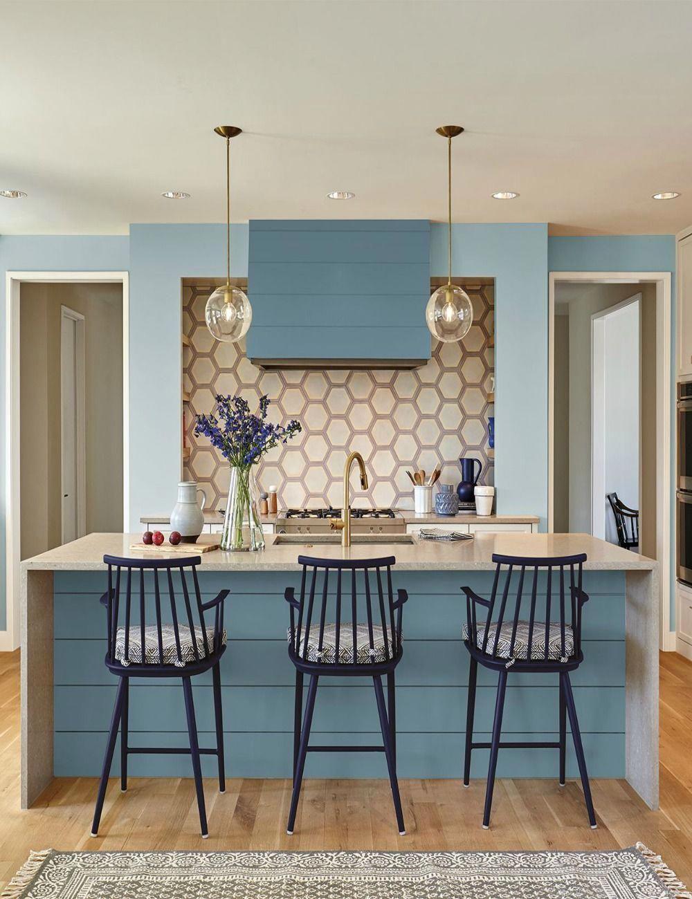 Kitchen Cabinets Painted With Behr Blueprint Homeinteriordesign Kitchen Paint Kitchen Colors Trending Paint Colors