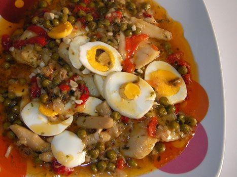 Receta de merluza en salsa platos frescos de verano y pescado - Cocinar merluza en salsa ...