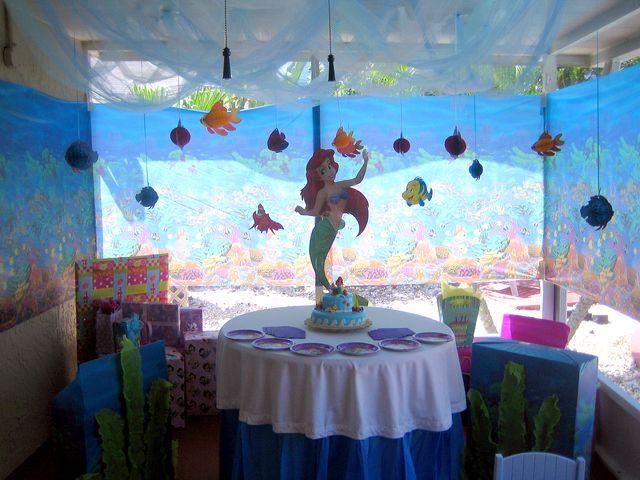 Little mermaid birthday party ideas mermaid birthday for Ariel decoration ideas