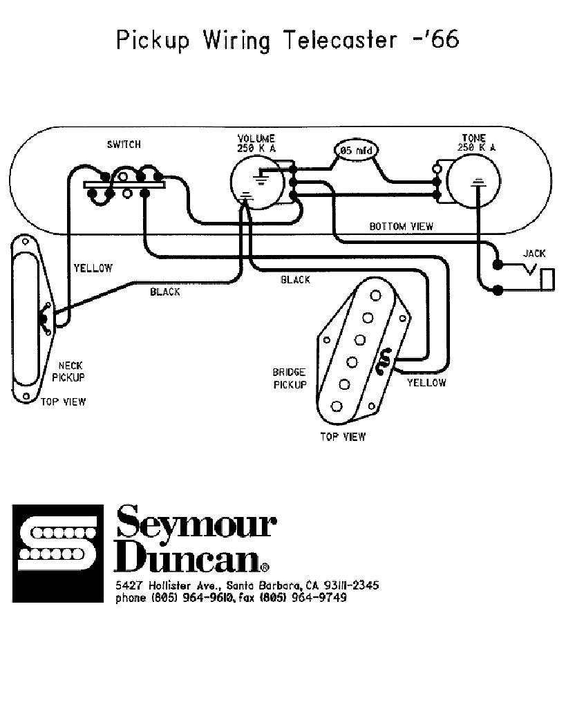 Fender Telecaster Guitar Wiring Diagrams Toyota Land Cruiser Headlight Diagram 66 Seymour Duncan Build In