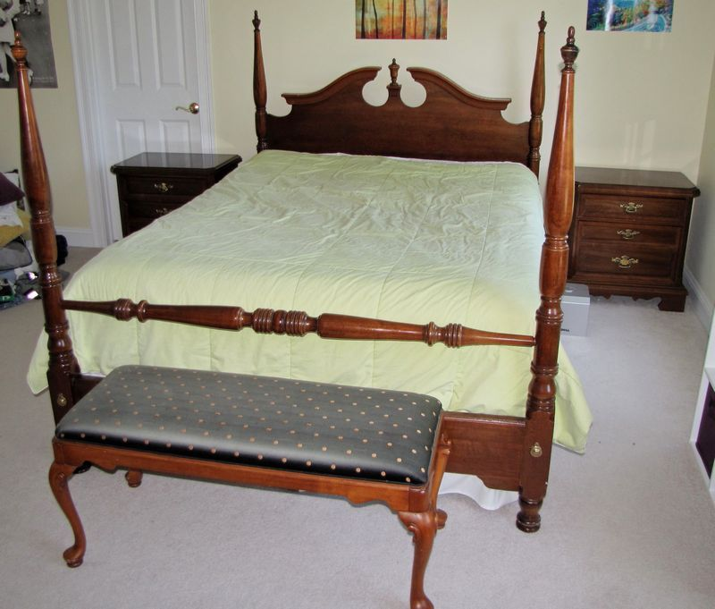 Modern Cherry Queen Anne Style Bedroom Furniture Including
