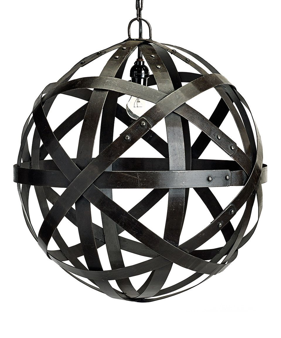 Another great find on #zulily! Barrel Hoop Orb Chandelier by Bambeco #zulilyfinds