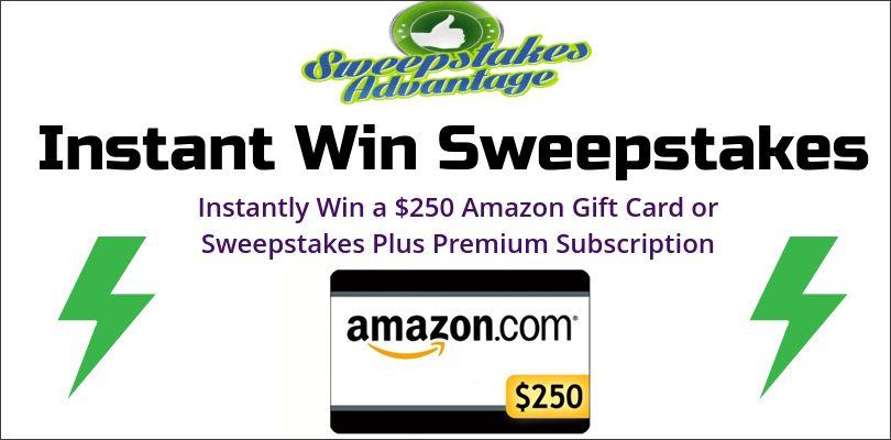 Sweepstakes Advantage Instant Win Sweepstakes   Sweepstakes