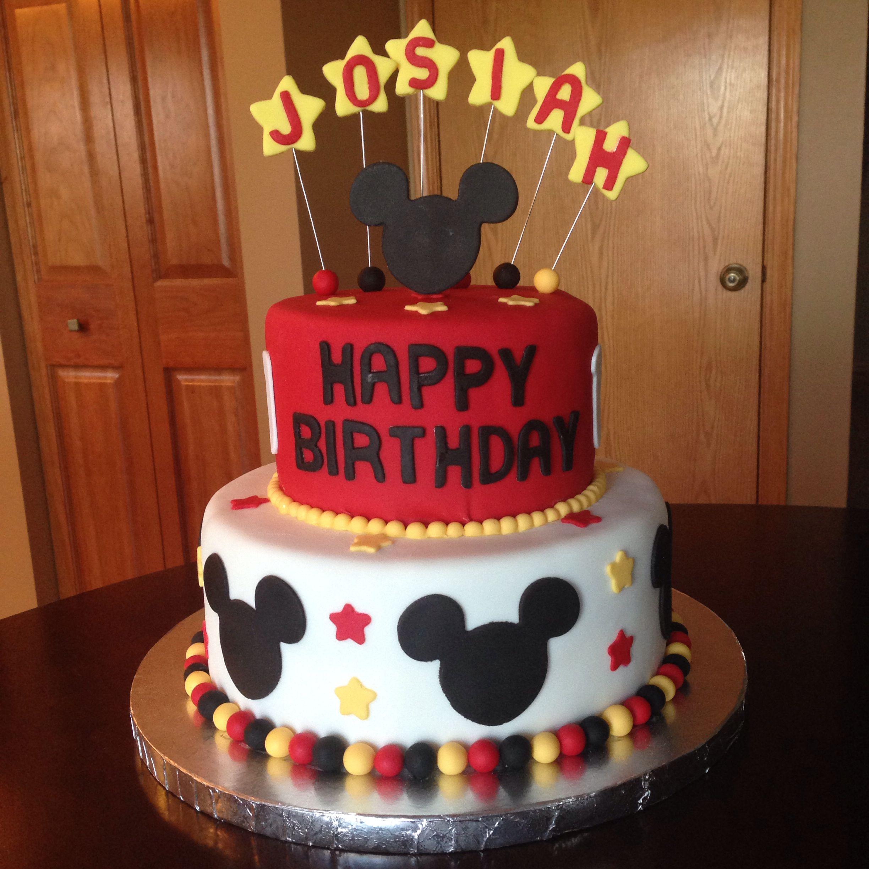 Mickey Mouse Birthday Cake Mickey Mouse Birthday Cake Mickey