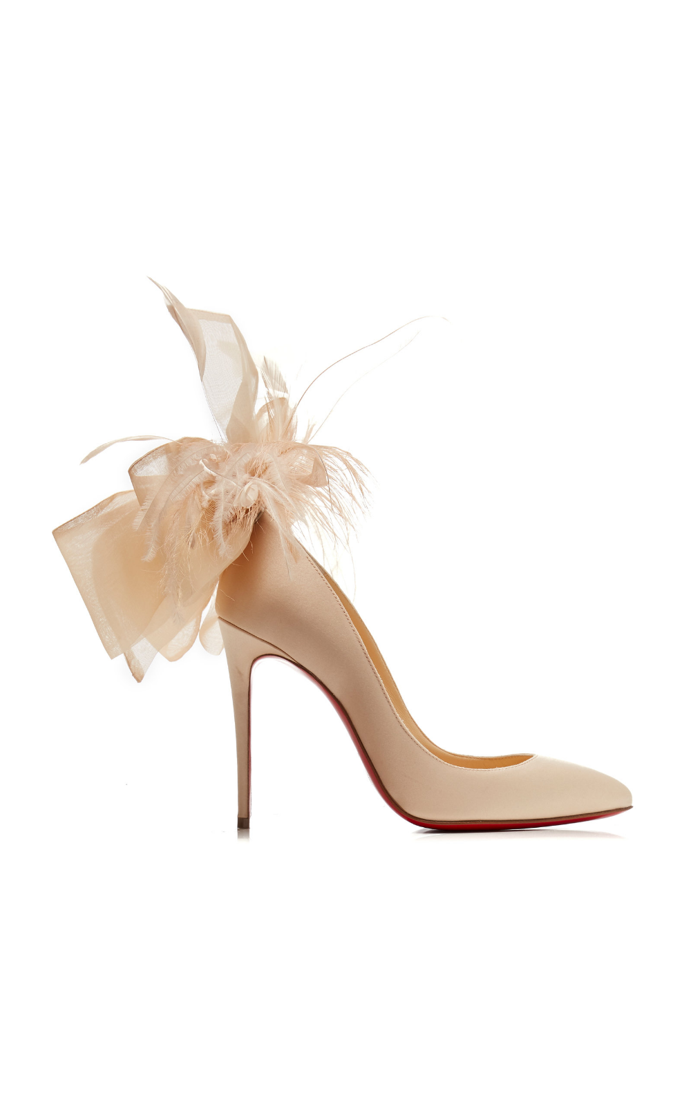 e1da9f3ab92 Christian Louboutin Exclusive Anemone Embellished Satin Pumps in ...