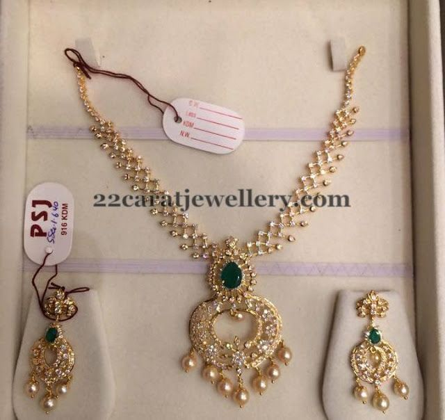 Light Weight Cz Set By Psj Indian Diamond Wedding